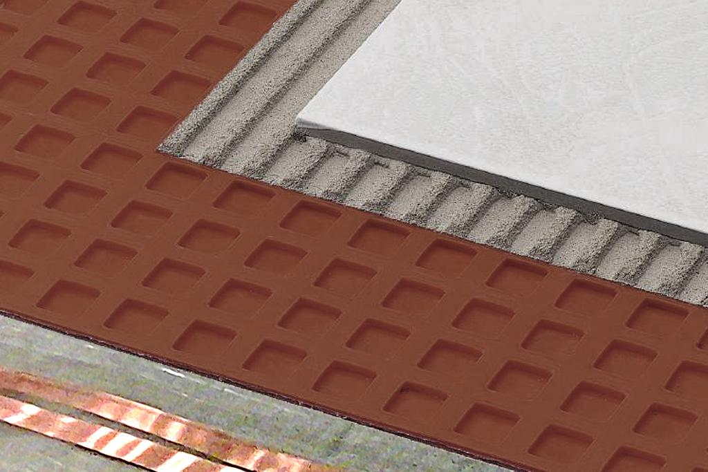 Thermo Folio instalado en una capa de cemento fino