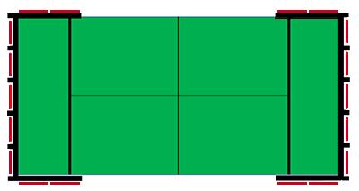 Glass Game láminas independientes para pistas con columnas